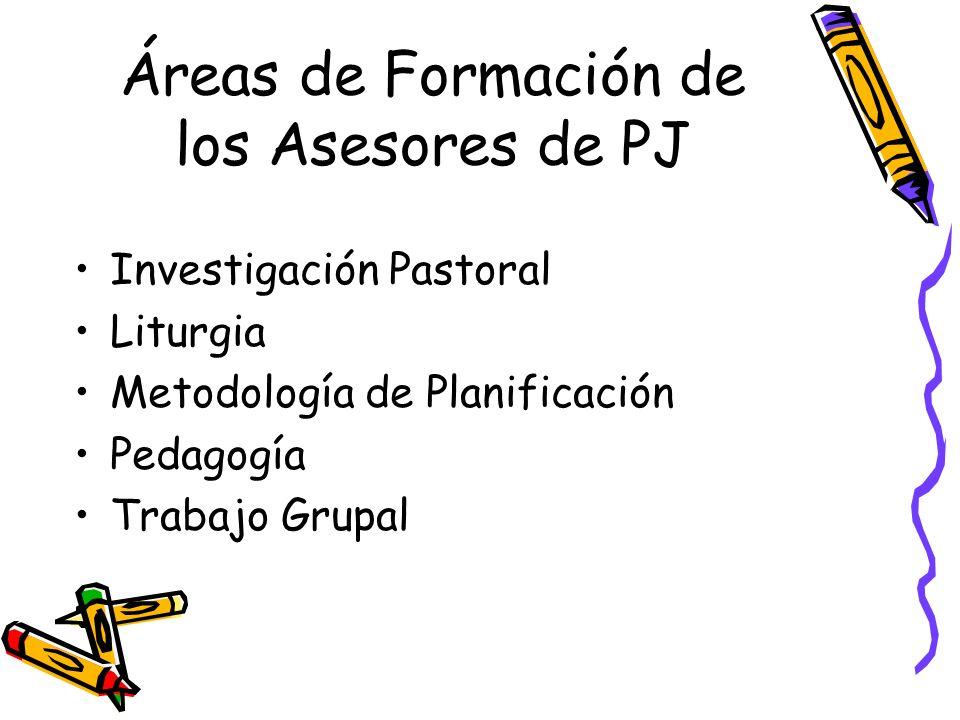 Áreas de Formación de los Asesores de PJ