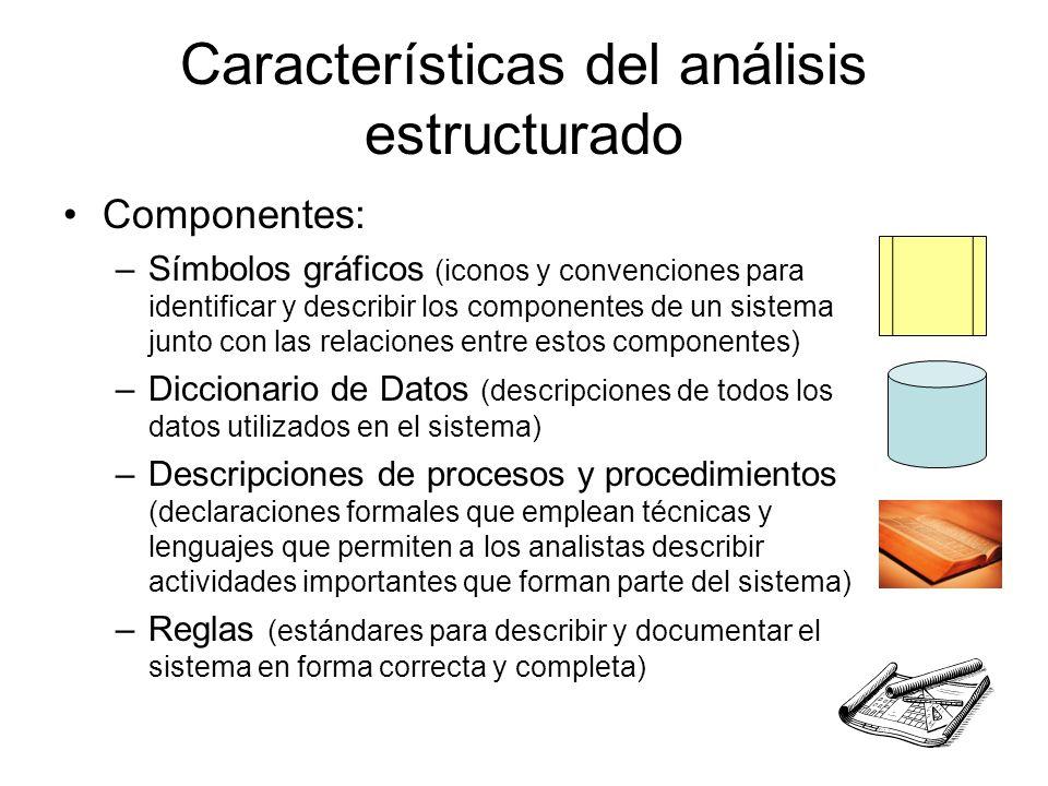 Características del análisis estructurado