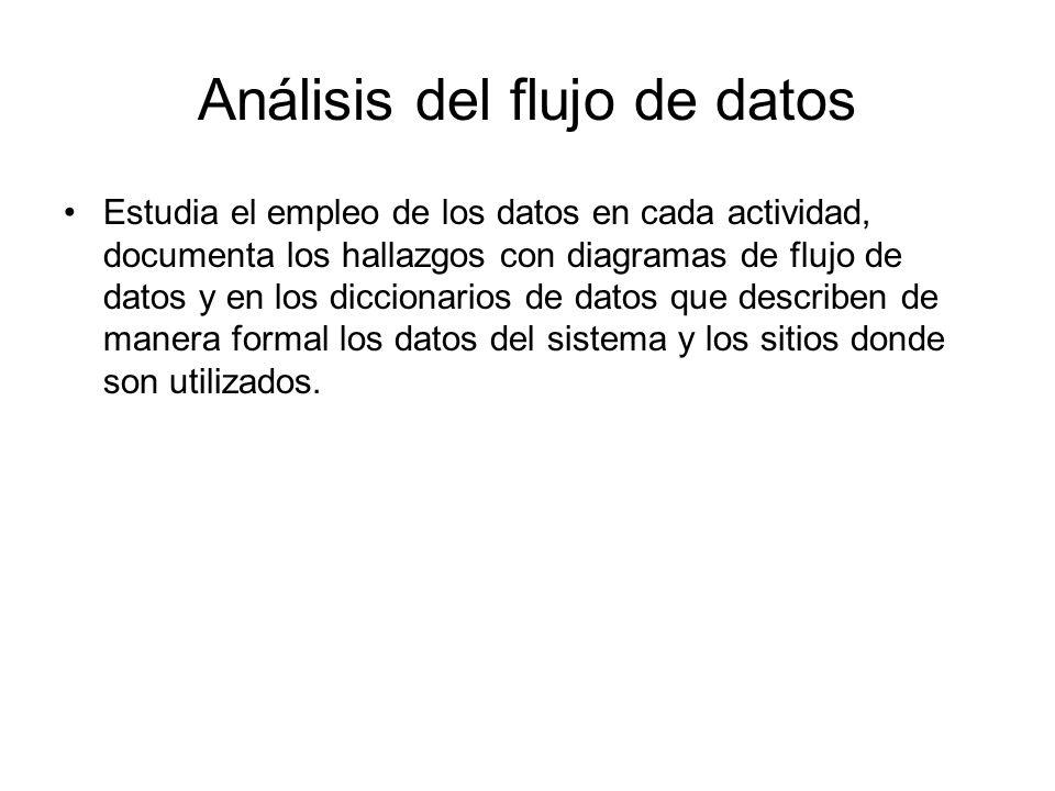 Análisis del flujo de datos