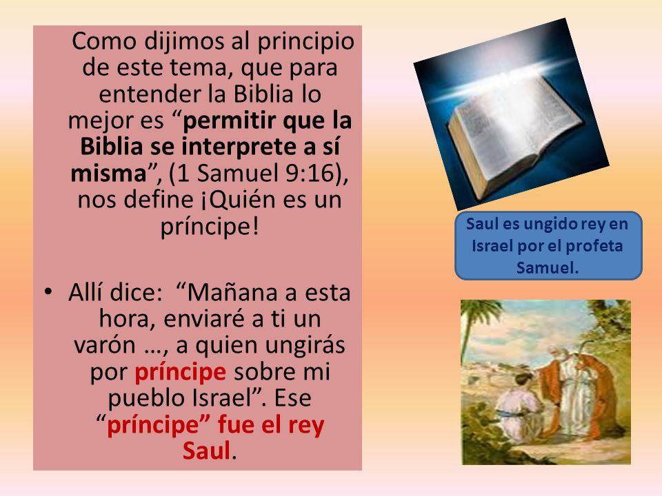 Saul es ungido rey en Israel por el profeta Samuel.