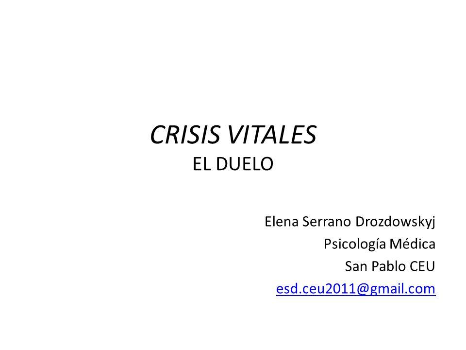 CRISIS VITALES EL DUELO