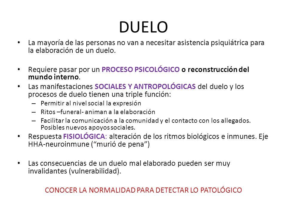 CONOCER LA NORMALIDAD PARA DETECTAR LO PATOLÓGICO