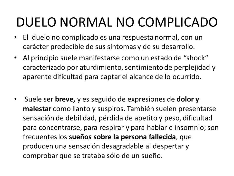 DUELO NORMAL NO COMPLICADO