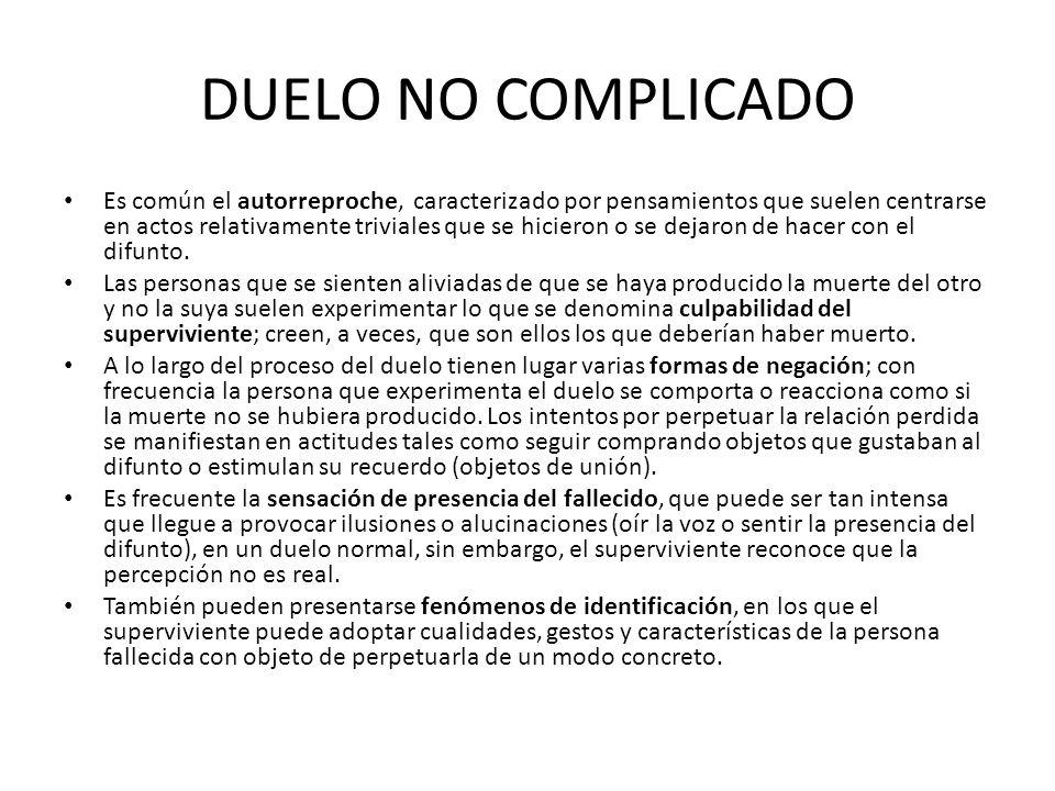 DUELO NO COMPLICADO