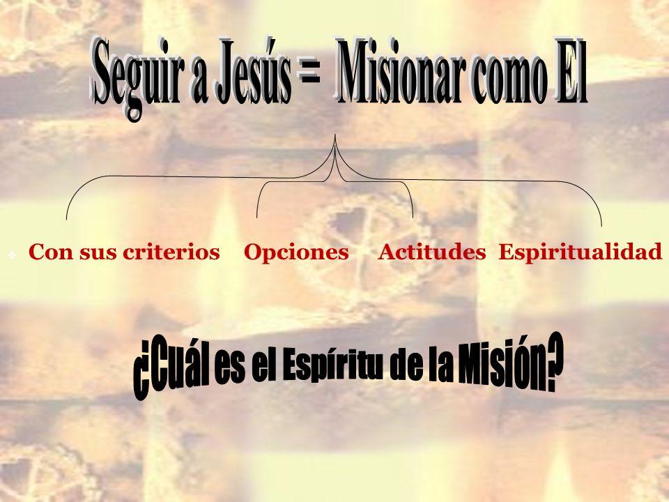 Seguir a Jesús = Misionar como El