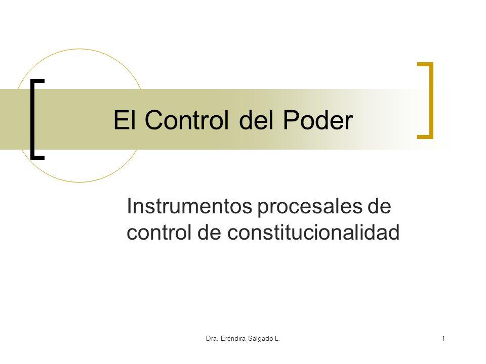 Instrumentos procesales de control de constitucionalidad