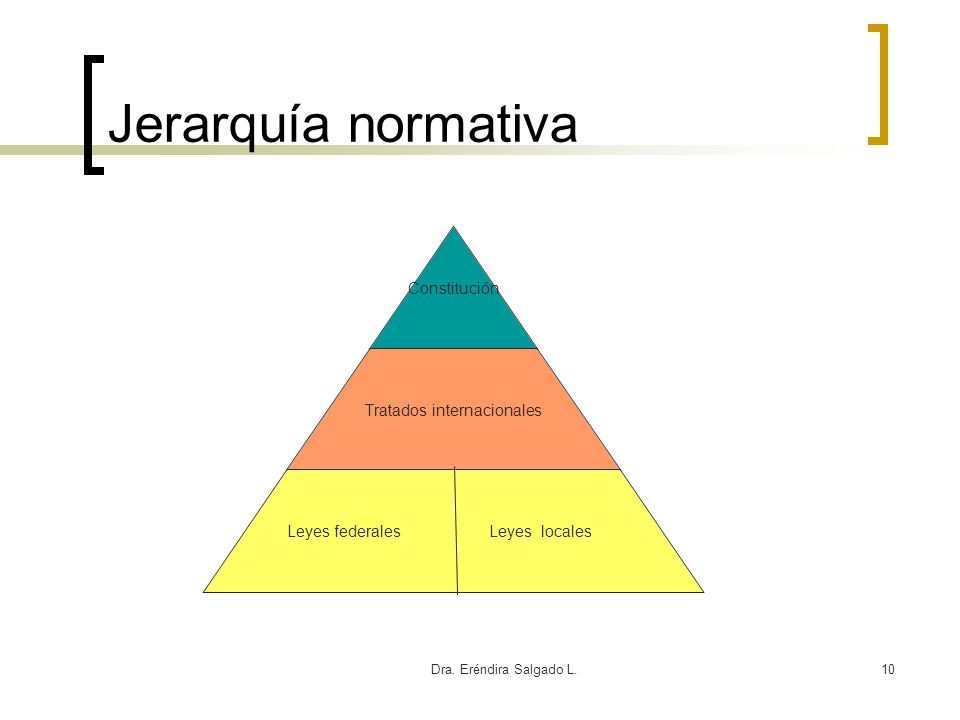 Jerarquía normativa Dra. Eréndira Salgado L.