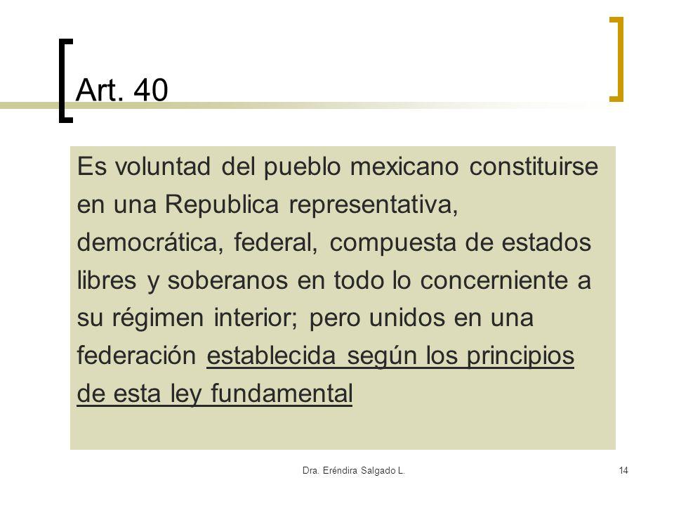 Art. 40 Es voluntad del pueblo mexicano constituirse