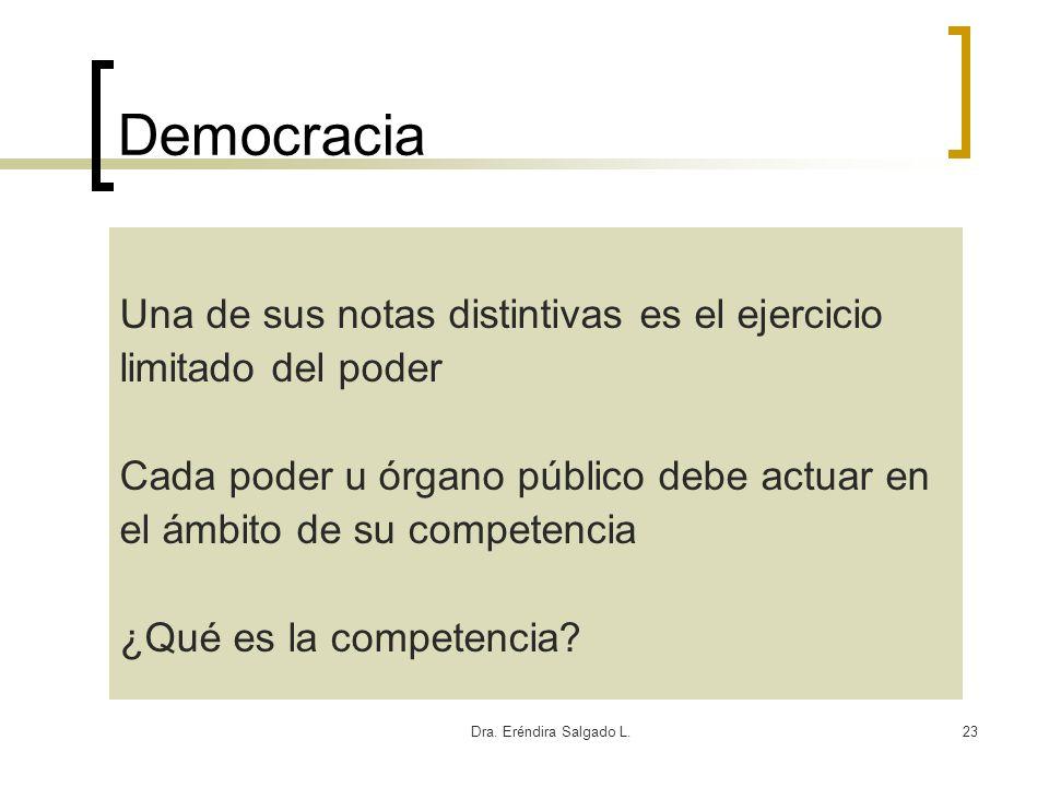 Democracia Una de sus notas distintivas es el ejercicio