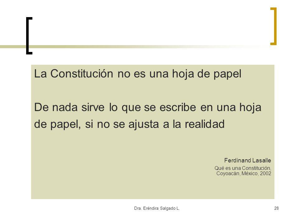 La Constitución no es una hoja de papel