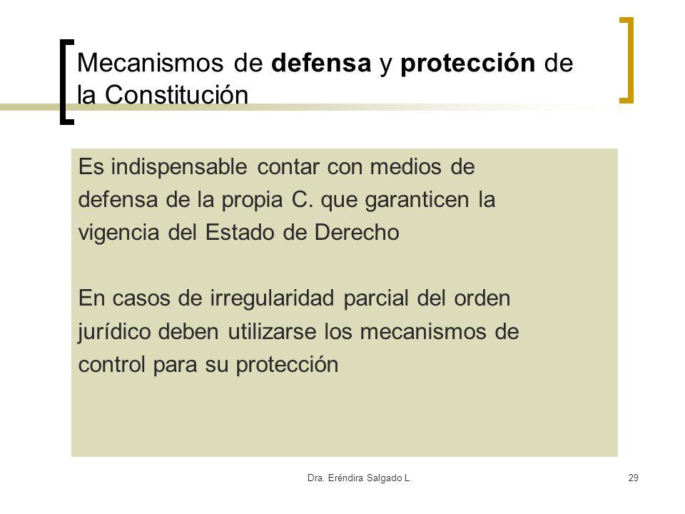 Mecanismos de defensa y protección de la Constitución