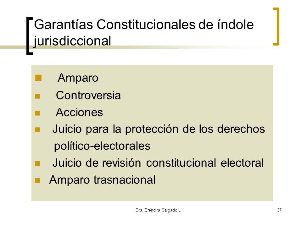 Garantías Constitucionales de índole jurisdiccional