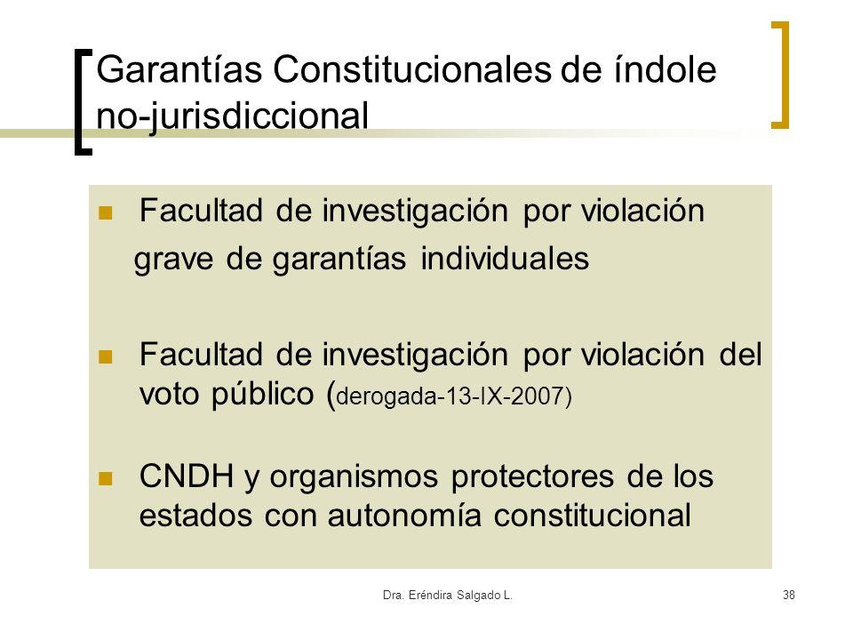 Garantías Constitucionales de índole no-jurisdiccional