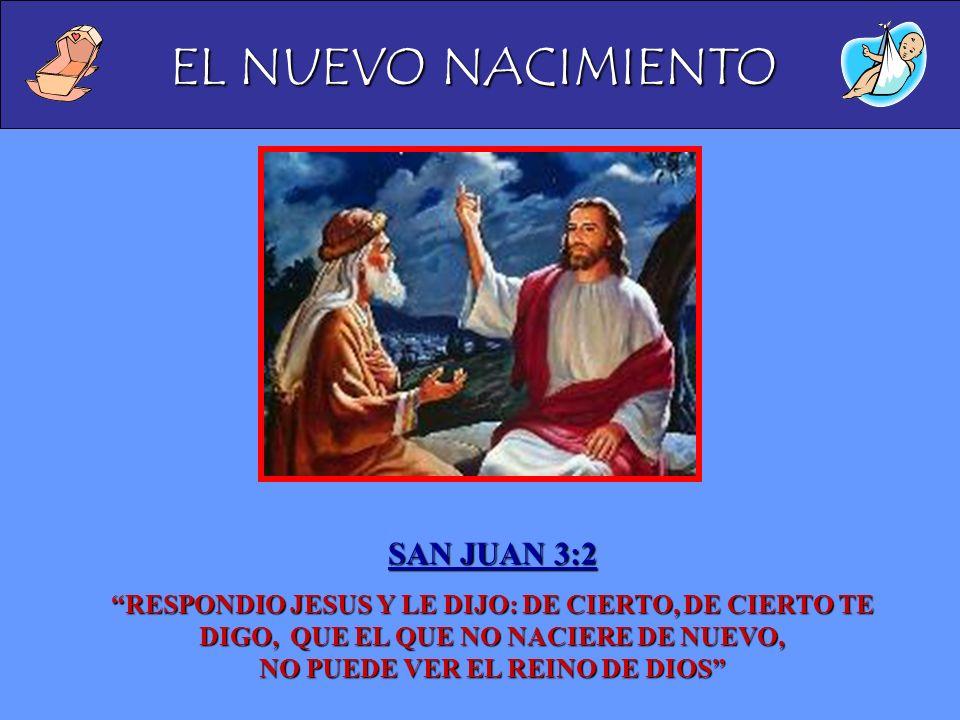 EL NUEVO NACIMIENTO SAN JUAN 3:2