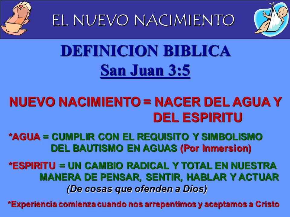 DEFINICION BIBLICA San Juan 3:5