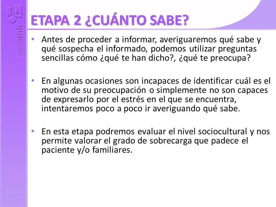 ETAPA 2 ¿CUÁNTO SABE