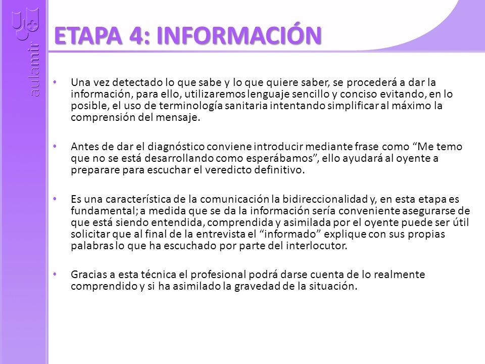 ETAPA 4: INFORMACIÓN