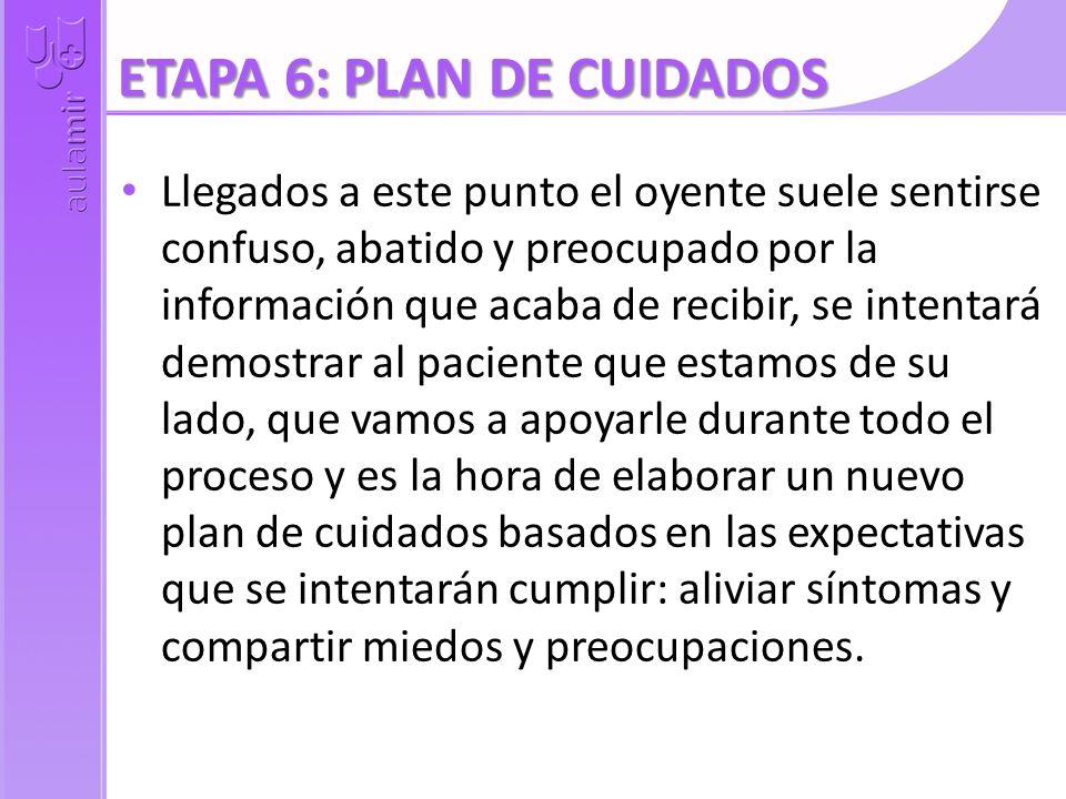 ETAPA 6: PLAN DE CUIDADOS