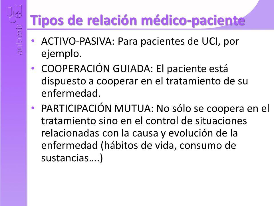 Tipos de relación médico-paciente