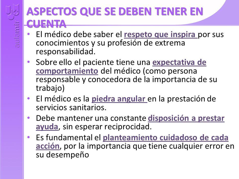 ASPECTOS QUE SE DEBEN TENER EN CUENTA