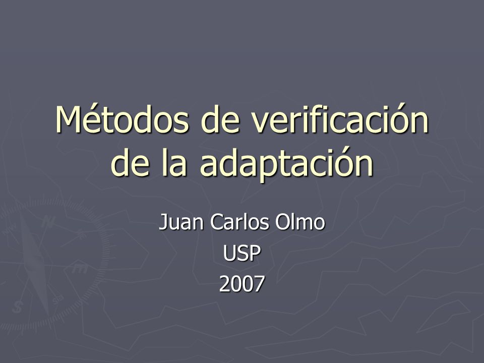 Métodos de verificación de la adaptación