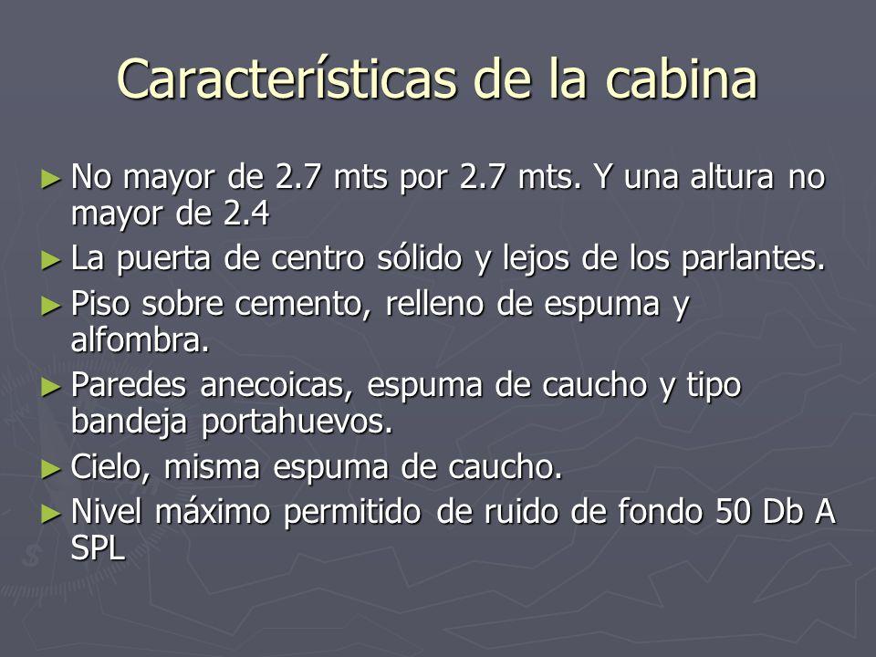 Características de la cabina