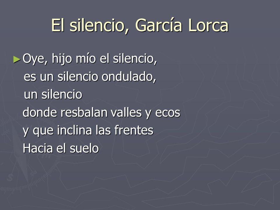 El silencio, García Lorca