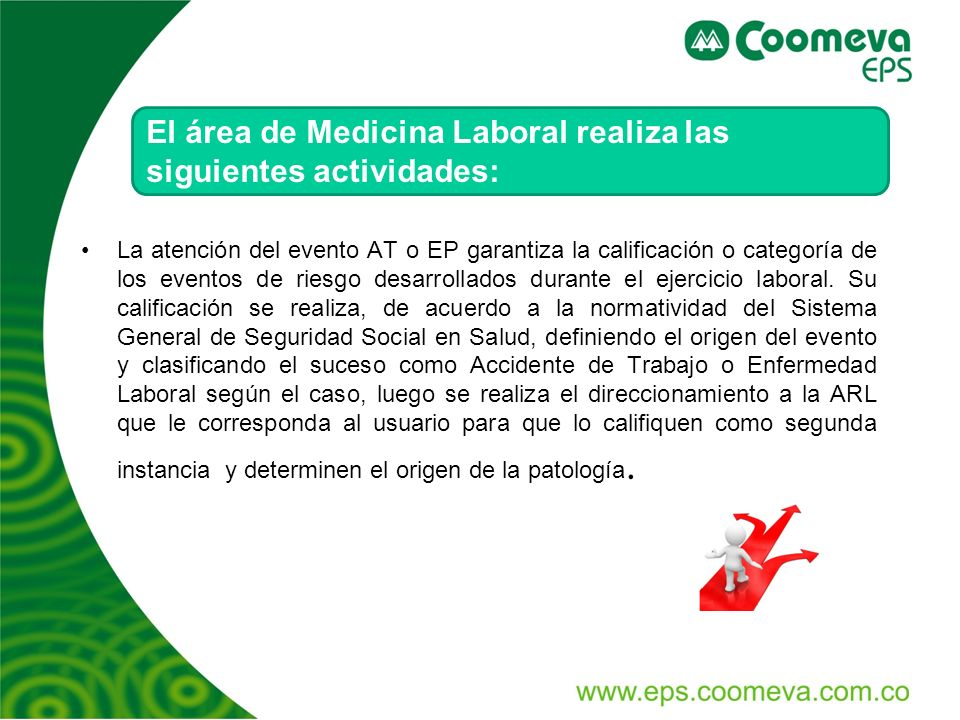 El área de Medicina Laboral realiza las siguientes actividades: