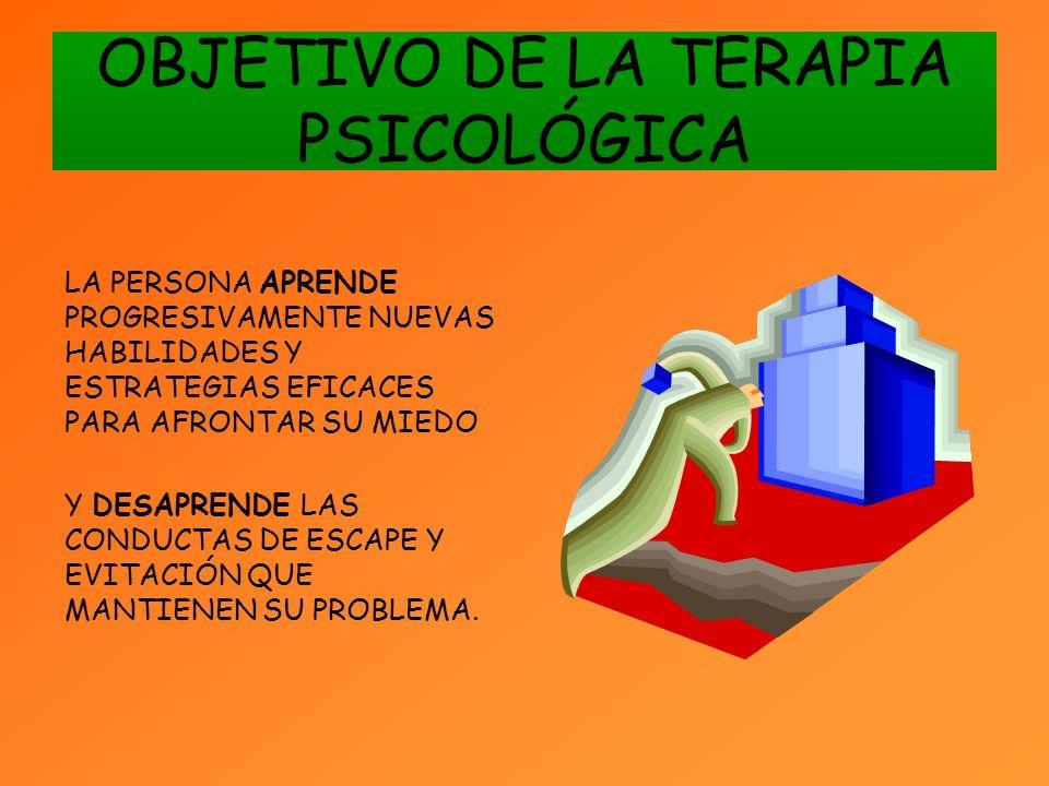 OBJETIVO DE LA TERAPIA PSICOLÓGICA