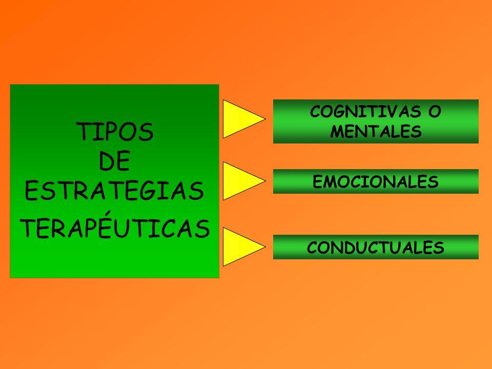 TIPOS DE ESTRATEGIAS TERAPÉUTICAS