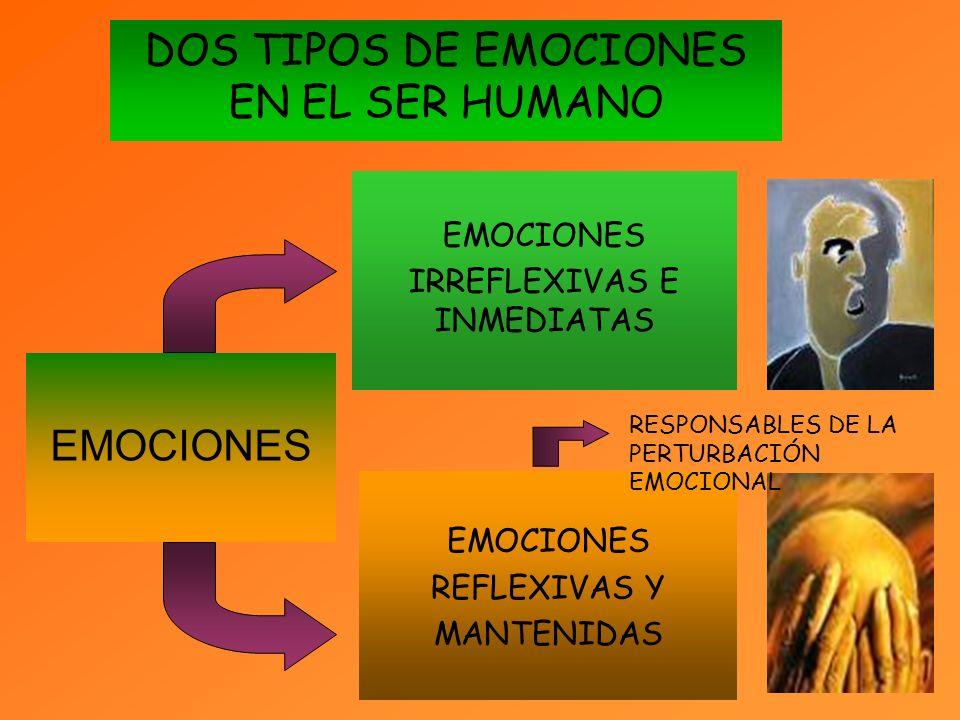 DOS TIPOS DE EMOCIONES EN EL SER HUMANO