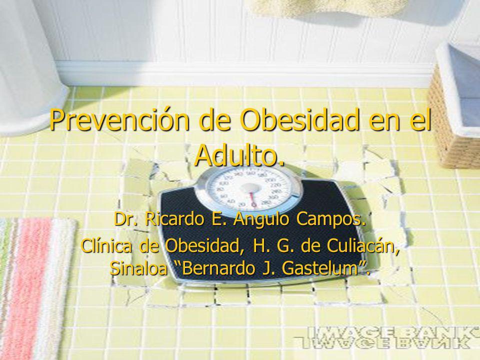 Prevención de Obesidad en el Adulto.