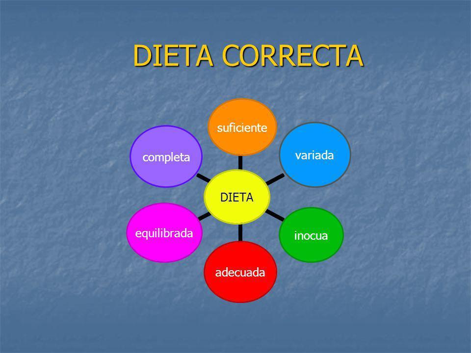 DIETA CORRECTA