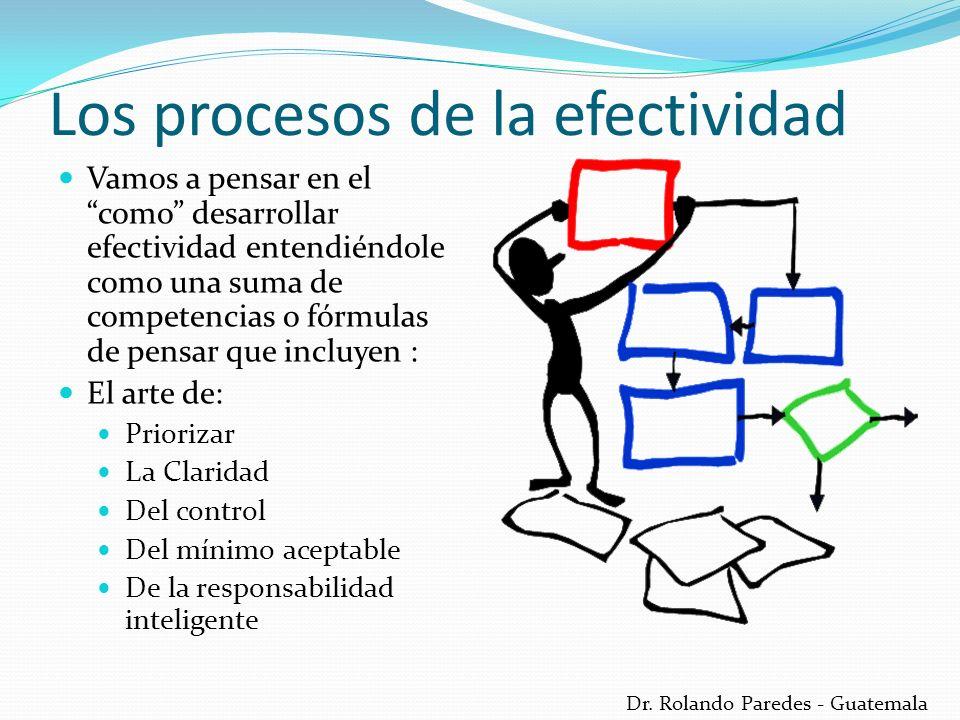 Los procesos de la efectividad