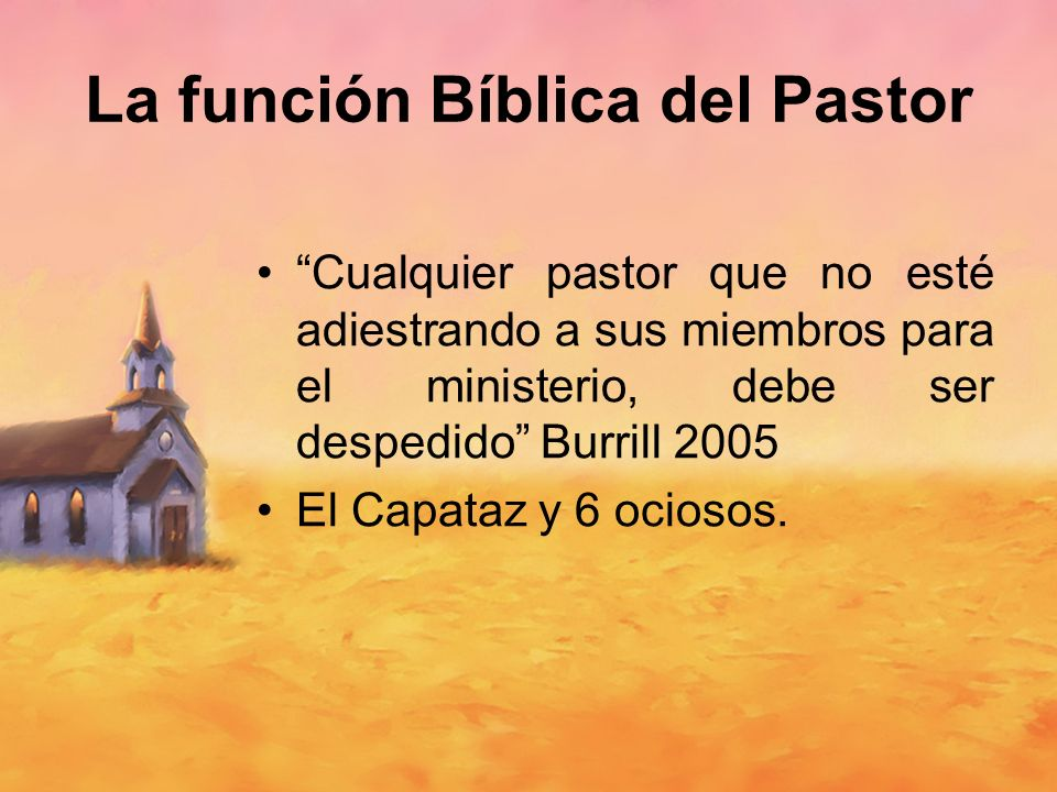 La función Bíblica del Pastor