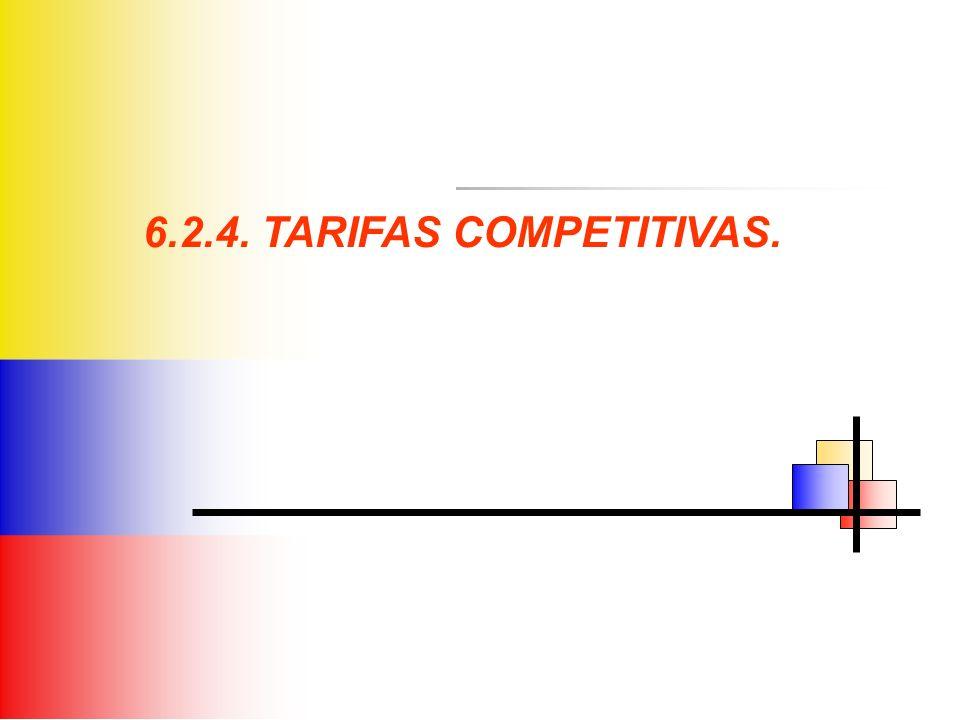 6.2.4. TARIFAS COMPETITIVAS.