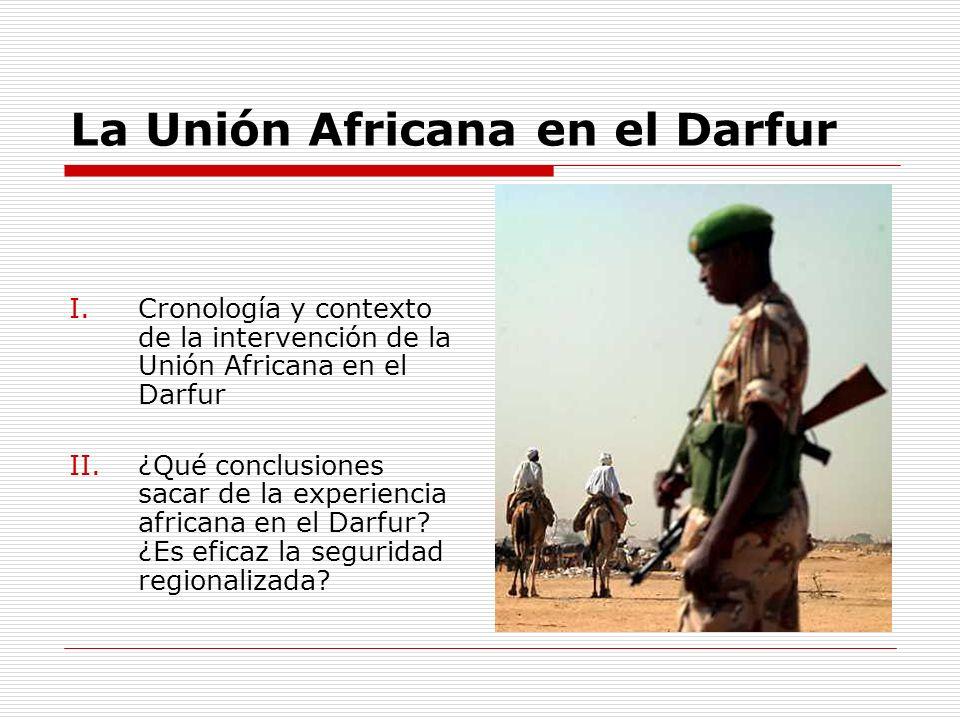 La Unión Africana en el Darfur