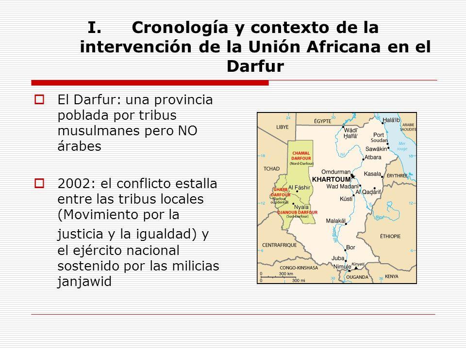 Cronología y contexto de la intervención de la Unión Africana en el Darfur