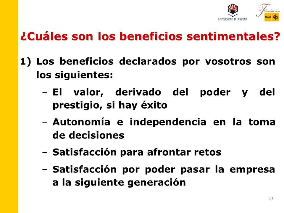 ¿Cuáles son los beneficios sentimentales