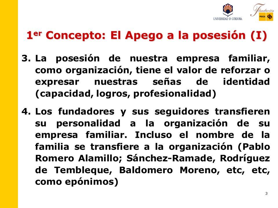 1er Concepto: El Apego a la posesión (I)