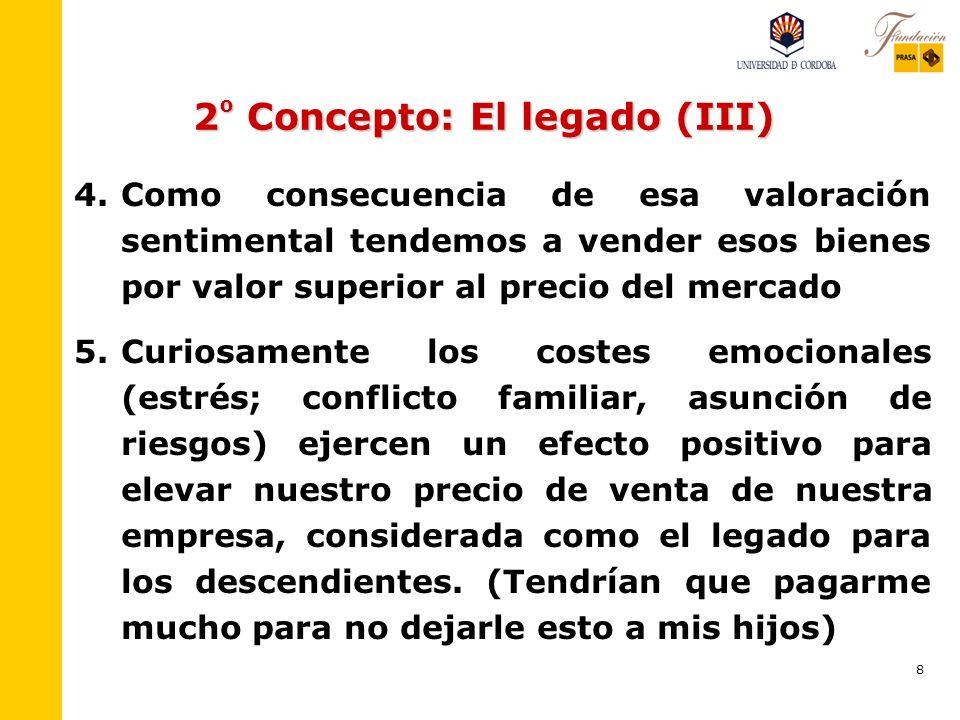 2º Concepto: El legado (III)