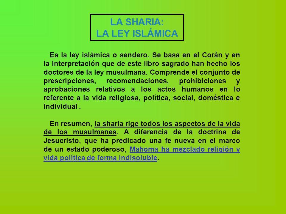LA SHARIA: LA LEY ISLÁMICA