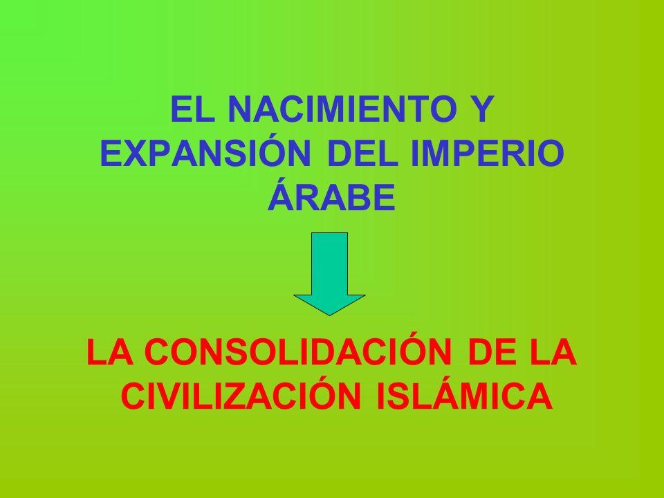 EL NACIMIENTO Y EXPANSIÓN DEL IMPERIO ÁRABE
