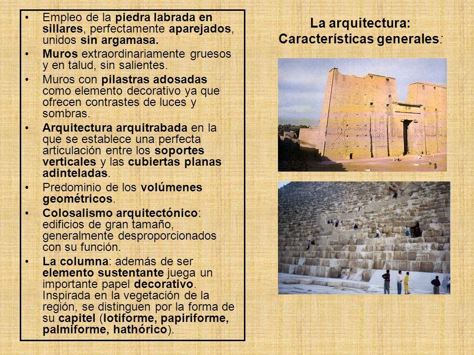 La arquitectura: Características generales: