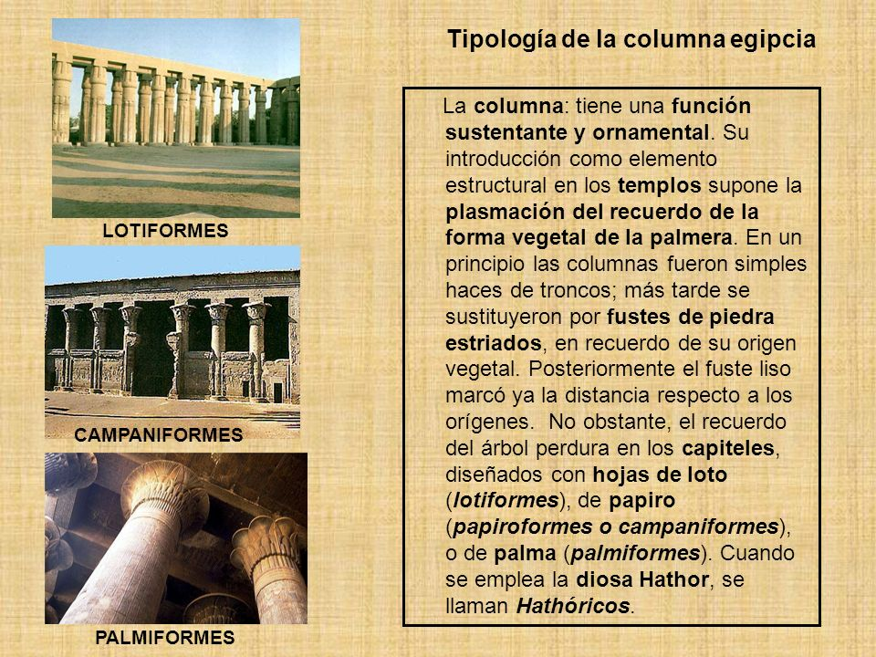 Tipología de la columna egipcia