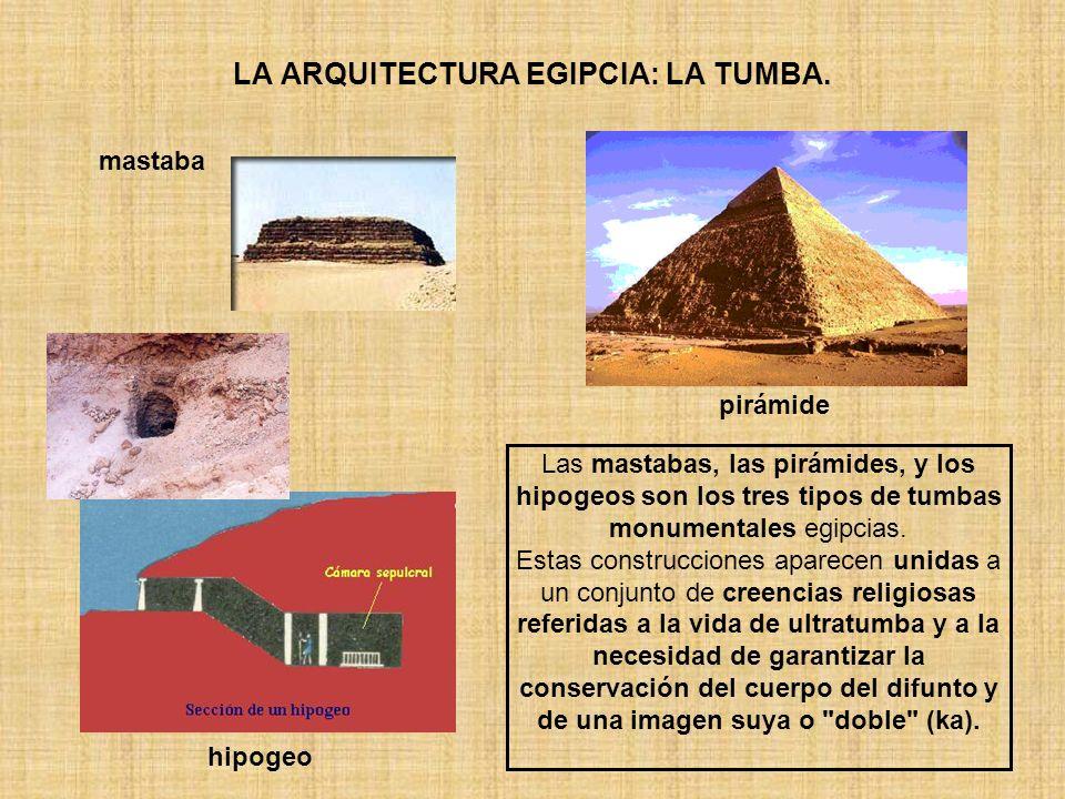 LA ARQUITECTURA EGIPCIA: LA TUMBA.