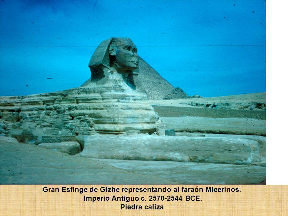 Gran Esfinge de Gizhe representando al faraón Micerinos