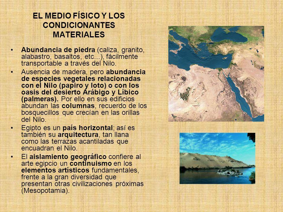 EL MEDIO FÍSICO Y LOS CONDICIONANTES MATERIALES