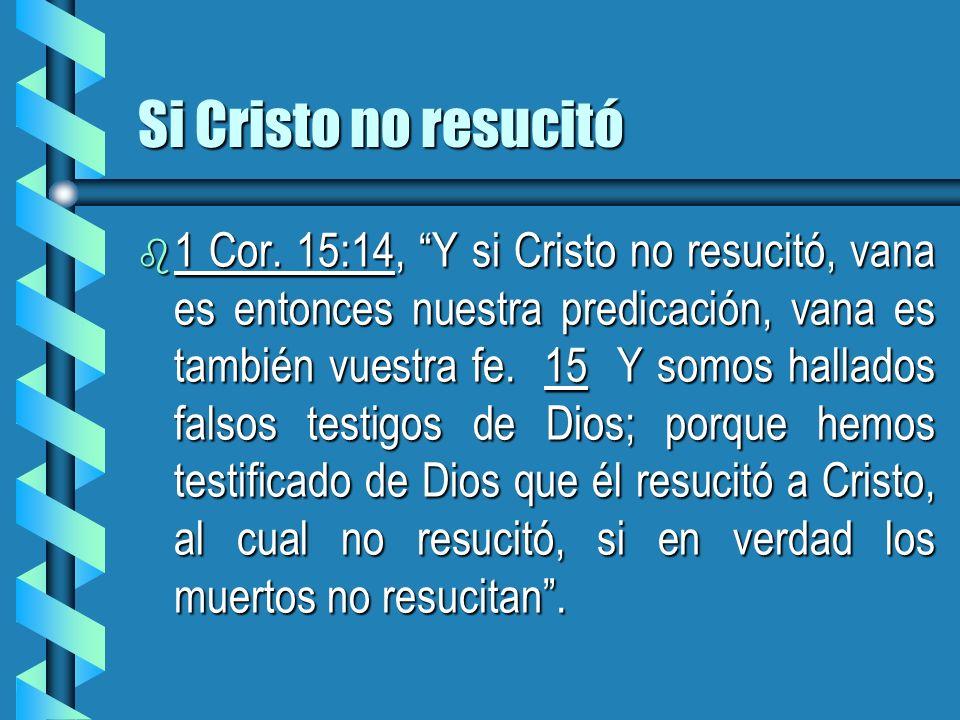 Si Cristo no resucitó