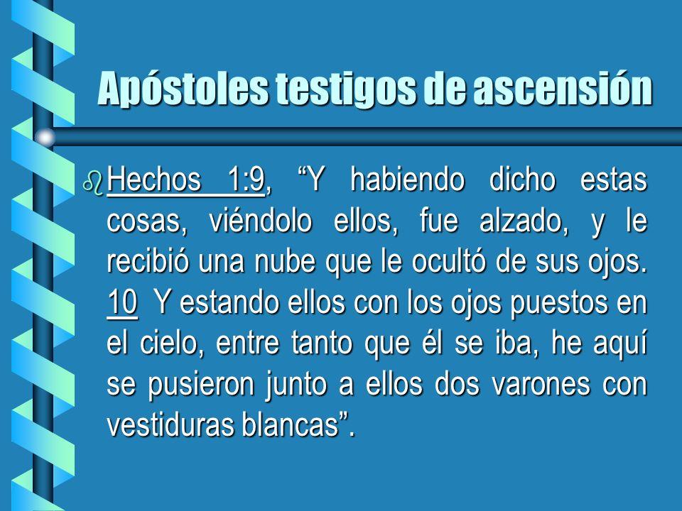 Apóstoles testigos de ascensión